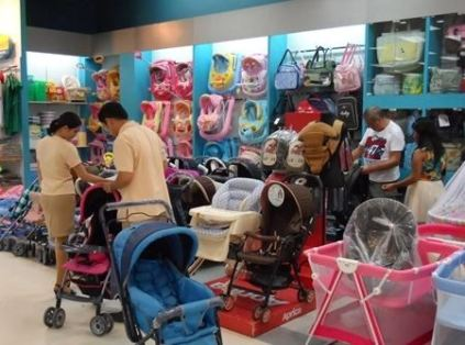 buying baby stuff